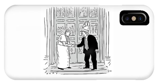 Trump Meets Pope Francis. IPhone Case