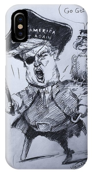Election iPhone Case - Trump, Short Fingers Pirate With Ryan, The Bird  by Ylli Haruni
