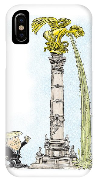 Trump Visits Mexico IPhone Case