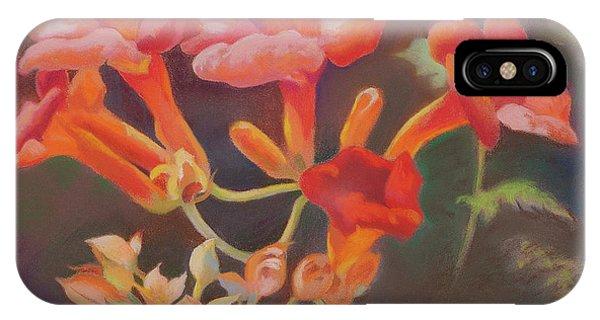 Trumpet Flowers IPhone Case