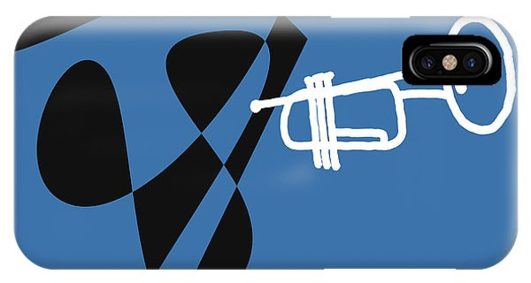 Trumpet In Blue IPhone Case