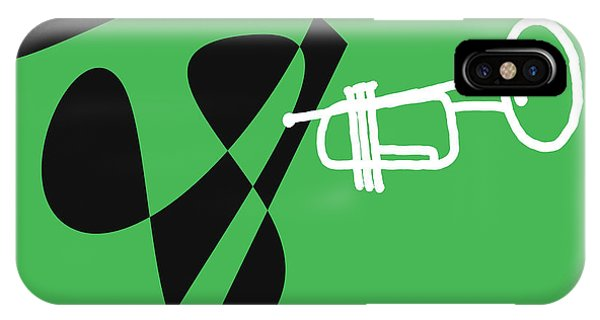 Trumpet In Green IPhone Case