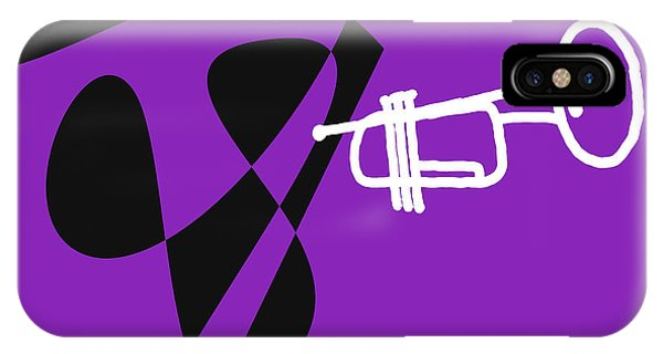 Trumpet In Purple IPhone Case