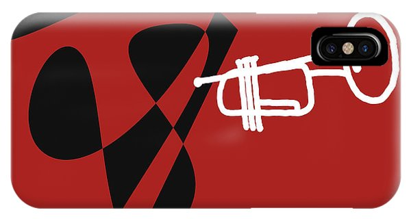 Trumpet In Orange Red IPhone Case
