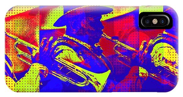 Trumpet Player Pop-art IPhone Case