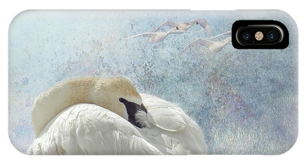 Trumpeter Textures #1 - Swan Feather IPhone Case