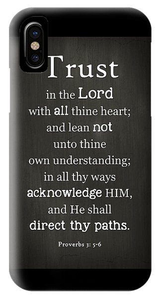 Trust In The Lord IPhone Case