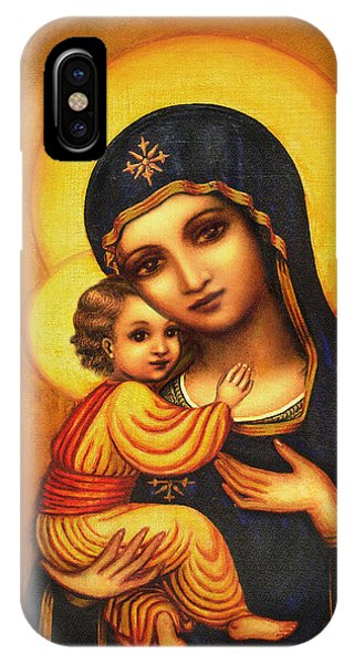 Tryptichon Madonna IPhone Case