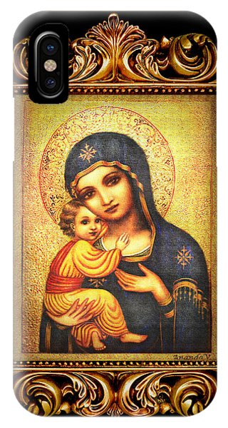 Tryptichon Madonna With Frame Phone Case by Ananda Vdovic