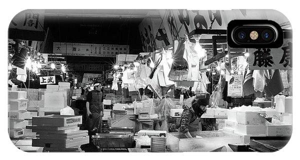 Tsukiji Shijo, Tokyo Fish Market, Japan 3 IPhone Case