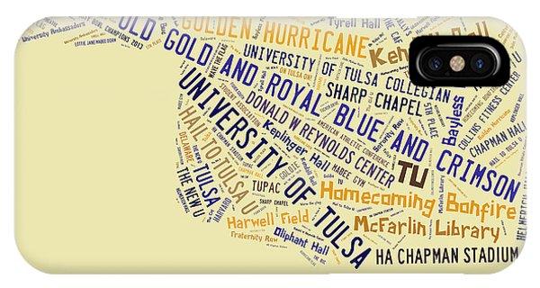 Oklahoma University iPhone Case - Tu Word Art University Of Tulsa by Roberta Peake