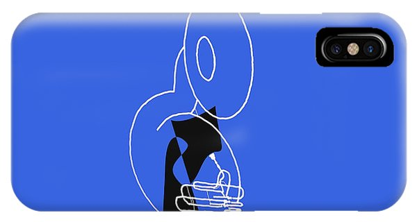 Tuba In Blue IPhone Case