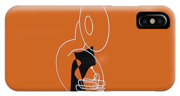 Tuba In Orange IPhone Case