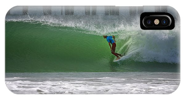 Surfboard iPhone Case - Tube Ride by Larry Marshall
