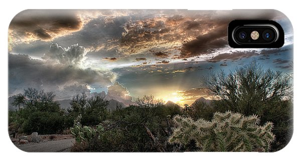 Tucson Mountain Sunset IPhone Case