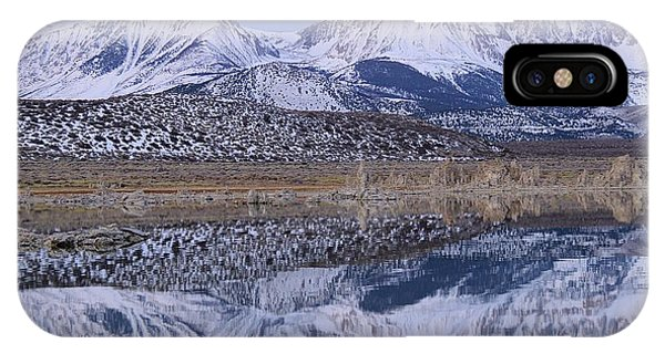 IPhone Case featuring the photograph Tufa Dawn Winter Dreamscape by Sean Sarsfield