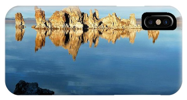 Tufa Reflection At Mono Lake IPhone Case