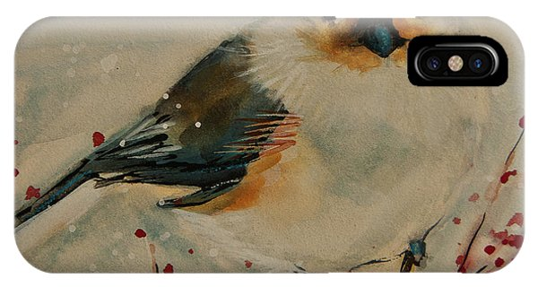 Tufted Blue Titmouse IPhone Case