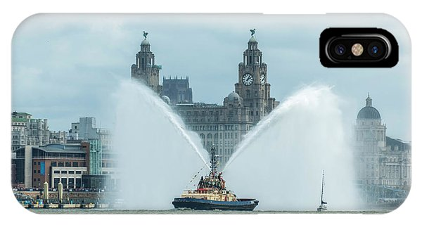 Tug Boat Fountain IPhone Case