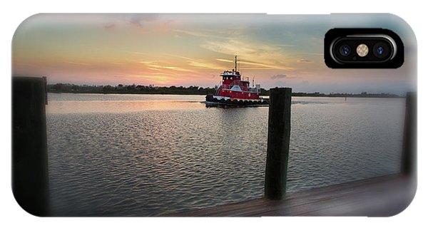 Tug Boat Sunset IPhone Case