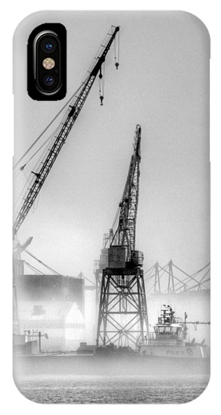 Tug With Cranes IPhone Case