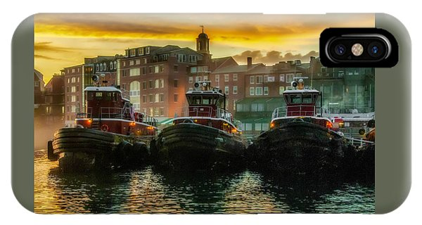 Tugboats In Portsmouth Harbor At Dawn IPhone Case