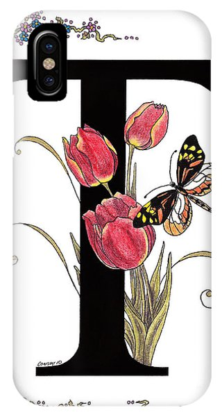 Tulip And Tiger Pierid Butterfly IPhone Case