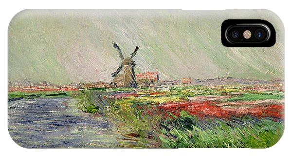 Tulip Field In Holland IPhone Case