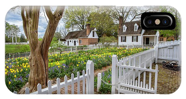 Tulip Garden Colonial Williamsburg  IPhone Case