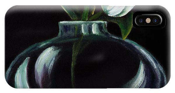 Tulip In A Vase Phone Case by Georgia Pistolis