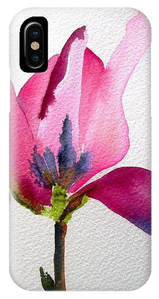 Tulip Magnolia Phone Case by Sacha Grossel