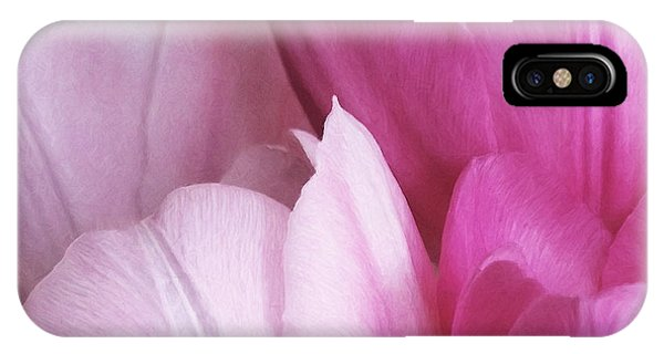 IPhone Case featuring the digital art Tulip Petals by Julian Perry