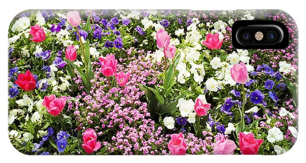 Florals iPhone Case - Tulips And Other Colorful Flowers In Spring by Matthias Hauser