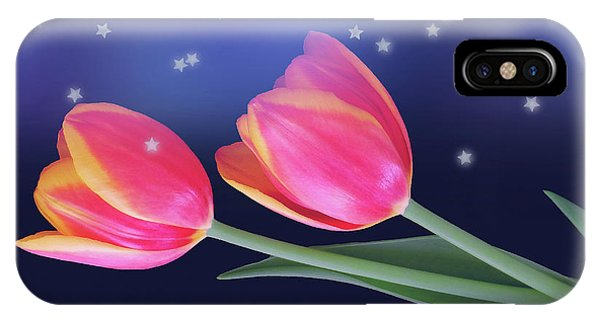 Tulips And Stars IPhone Case