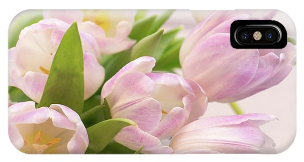White Tulip iPhone Case - Tulips Bouquet by Delphimages Photo Creations