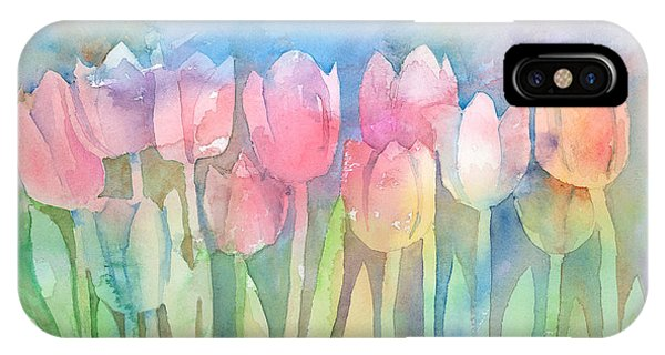 Tulips In A Row IPhone Case