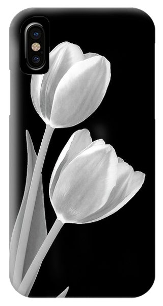 Tulips In Black And White IPhone Case