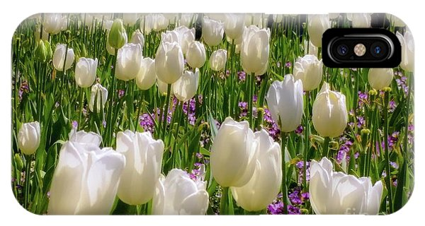 Tulips In White IPhone Case