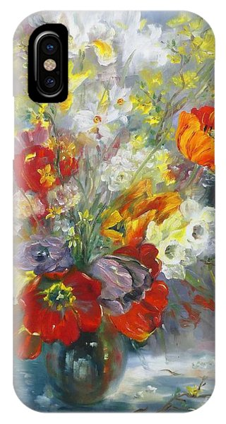 Tulips, Narcissus And Forsythia IPhone Case