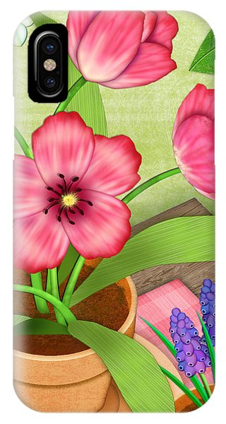 Tulips On A Spring Day IPhone Case