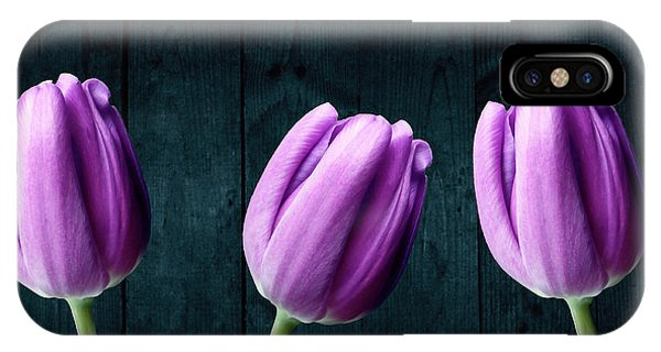 Tulips On Wood IPhone Case