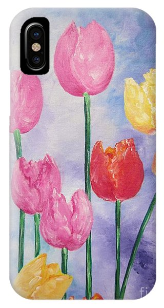 Ten  Simple  Tulips  Pink Red Yellow                                Flying Lamb Productions   IPhone Case