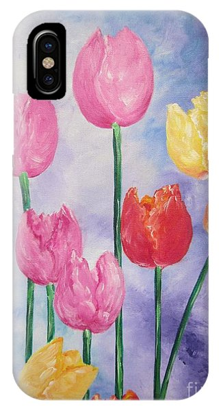 Flying Lamb Productions     Simply Tulips - Red-yellow-pink IPhone Case
