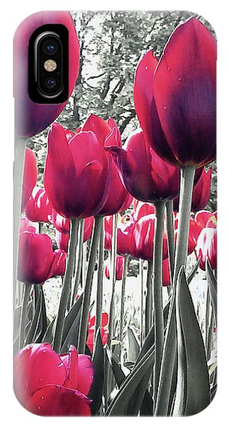 Tulips Tinted IPhone Case