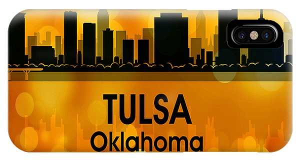 Ok iPhone Case - Tulsa Ok 3 Squared by Angelina Tamez