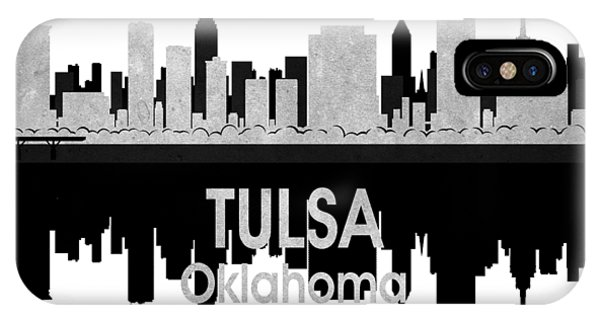 Ok iPhone Case - Tulsa Ok 4 Squared by Angelina Tamez
