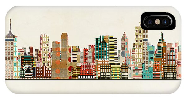Oklahoma iPhone Case - Tulsa Oklahoma Skyline by Bri Buckley