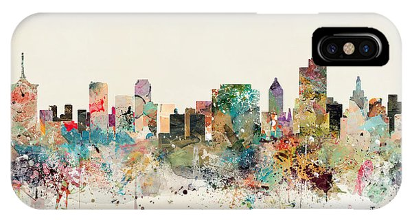 Oklahoma iPhone Case - Tulsa Skyline by Bri Buckley