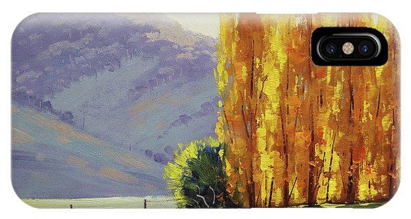 Tumut Autumn Poplars IPhone Case