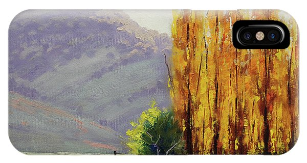 Amber iPhone Case - Tumut Poplars by Graham Gercken